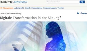Digitale Transformation der Bildung